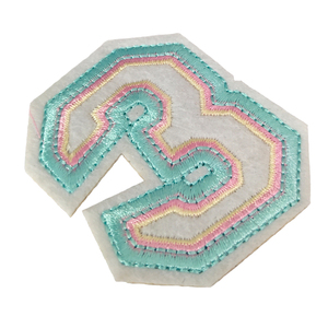 Cheap Letter Flower Animal Logo Embroidered Badges Custom Embroidery Patch