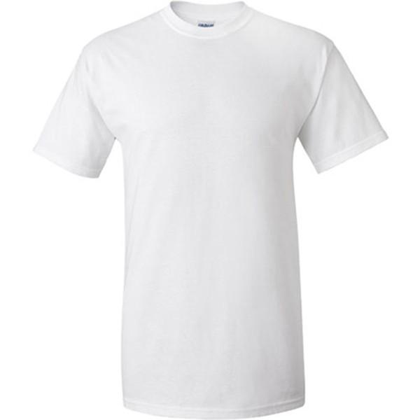 1 dollaro commercio all'ingrosso pianura bianco degli uomini di t-shirt