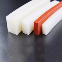 high temperature resistant round rectangle square solid rubber extrusion silicone profile