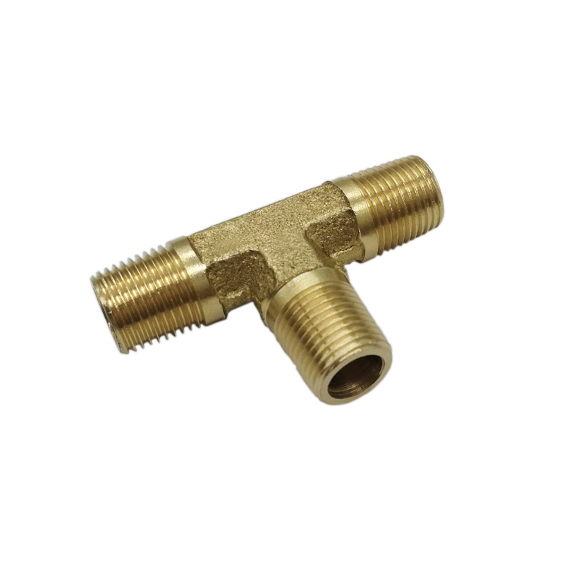Hardware Brass TEE Pipe <strong>Fitting</strong> 1/8'' NPT Male Thread For Hose