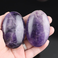Oval Gemstone Crystal Worry Pocket Energy Palm Stone, Can Customize, 6cm Large size