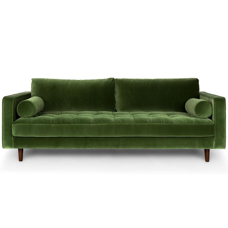 लक्जरी फर्नीचर आधुनिक कमरे में रहने वाले कपड़े सोफे सेट 3 सीटर