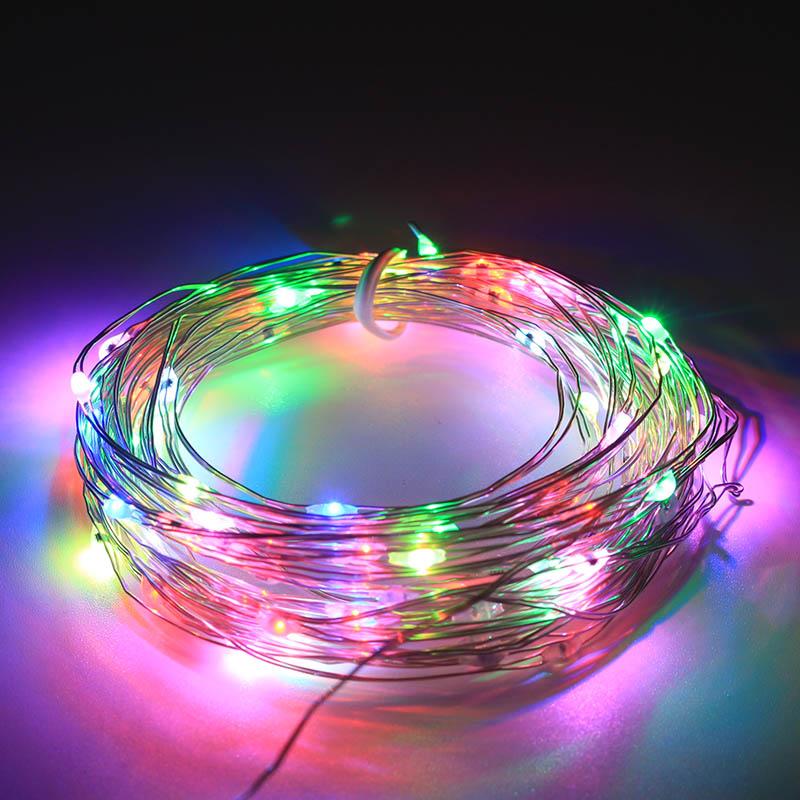 Decoração do feriado RGB Multi Cor LEVOU Luzes da Corda de Fio de Cobre