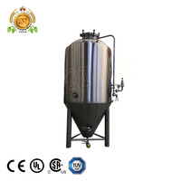 7BBL glycol jacketed conical fermenters used beer machines