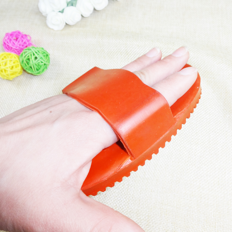 One New RUBBER JELLY HORSE MASSAGE MITT CURRY MAGNETIC THERAPY Brush