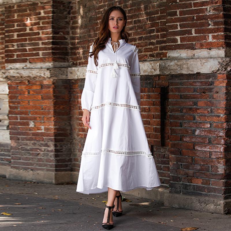 4f337ffef0f1 Venta al por mayor vestidos blancos largos de playa-Compre online ...