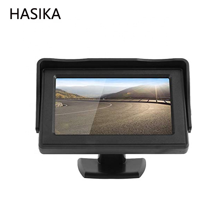 4.3 TFT LCD Rearview Car Monitors for DVD GPS Reverse Backup Camera Vehicle Driving Accessories