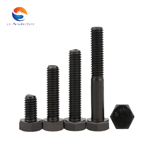 OEM High Strength Hex Bolts Fastener Manufacture Customized Special-shaped parts Black Surface Treatment DIN933 DIN931