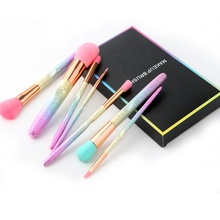 Logo personalizzato regalo di <span class=keywords><strong>trucco</strong></span> <span class=keywords><strong>pennelli</strong></span> 7 pcs arcobaleno viso occhio make up brush kit