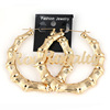 New bamboo earring beautiful Royalty gold bamboo hoop earrings women jewelry
