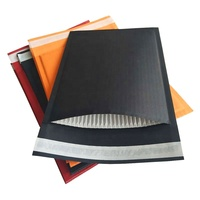Biodegradable&compostable Mailer Fully Black Corrugated Paper Padded Rigid Envelope Custom Logo