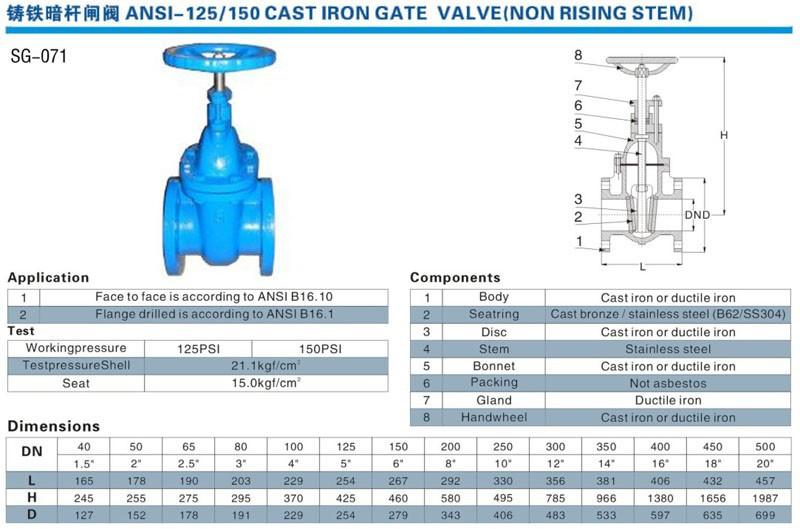 Gate Valve Weight Electric Gate Valve Pn10 16 Gate Valve