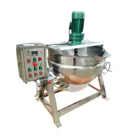 50 liter 200 Liter 500 liter mini double steam pharmaceutical jacketed cooking kettle from China