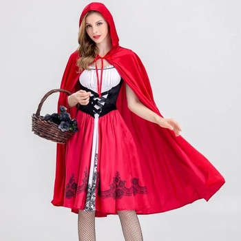 Halloween Cosplay Costume for Little Red Riding Hood