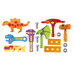 Kids Toy Pretend Play Set Dinosaur Construction Tools Kit with Drill