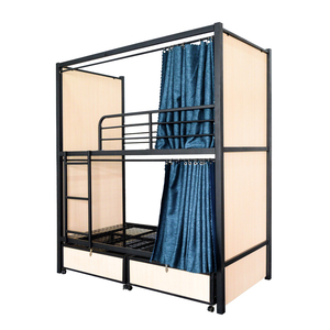 fashionable high Quality low price strong KD structure Metal Frame Bed Motel school Adults Steel Bunk Bed Express Inn metal bed