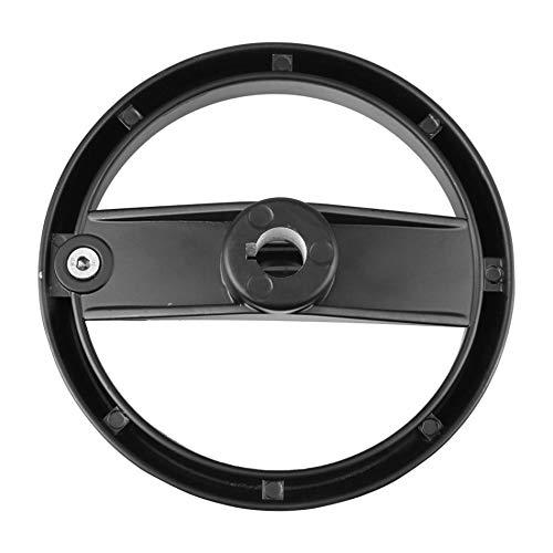 Revolving Grip Black 12mmx100mm 3 Spoke Hand Wheel