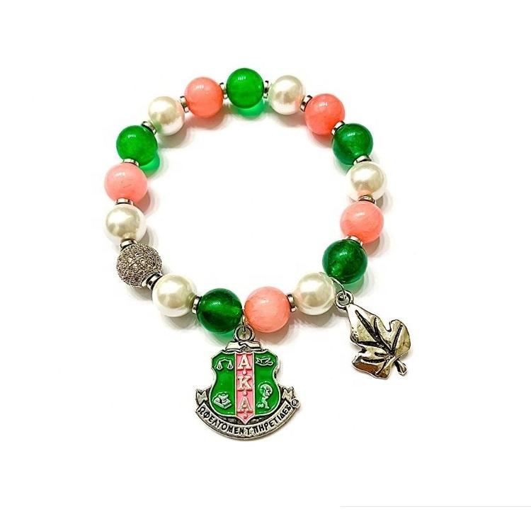 19239a399f8f4 Alpha Kappa Alpha Sorority Bracelet Aka Charm Bead Bracelet Bangle - Buy  Aka Charm Bead Bracelet Bangle,Alpha Kappa Alpha Sorority Bracelet,Alpha ...