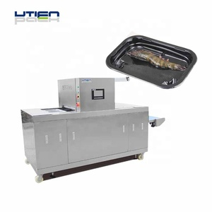 Repeat running vacuum skin packaging machine for sealing box,bowls and trays