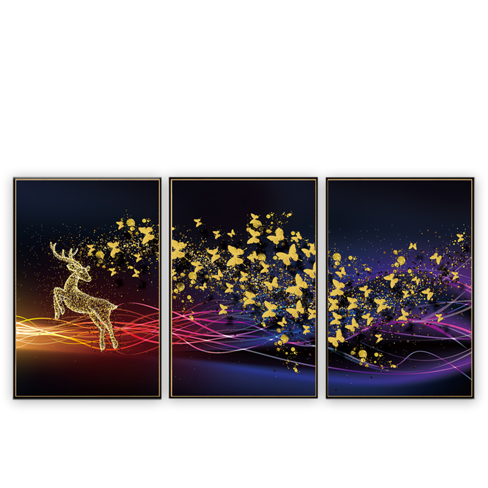 Wholesale glass art 3d abstract butterflies acrylic painting on canvas