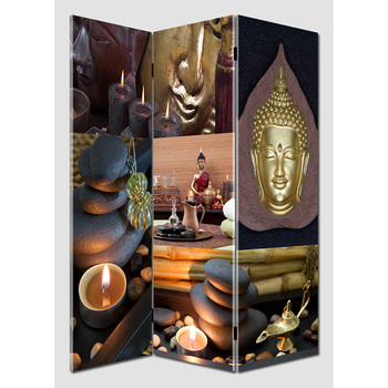 light up room divider, folding canvas screen