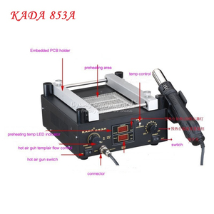 KADA 853A SMD Rework Soldering Pre-heating Station 220/110V 600WWarm-up Infrared rays Hot air gun