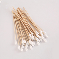 100% Pure Cotton Medical Single Tip 15cm Applicators 6 Inch Birch Wooden sterile Cotton Swabs