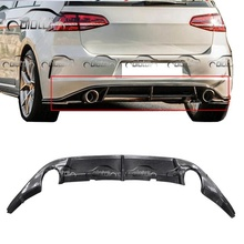 Revozport Style rear diffuser Carbon Fiber, 뒤 범퍼 립 대 한 Volkswagen Golf 7 <span class=keywords><strong>GT</strong></span> & I Single 배기 팁
