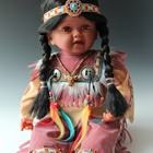 22 inch Indian traditional dolls beaded indian dolls
