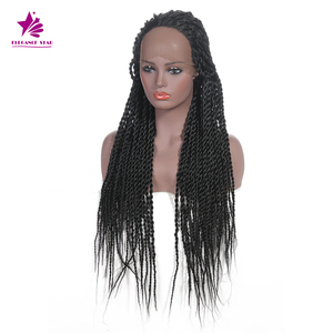 BIG DISCOUNT dreadlock lace synthetic long box braid hair wig for black women