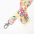 custom printed colorful  polyester lanyards  attached accessories