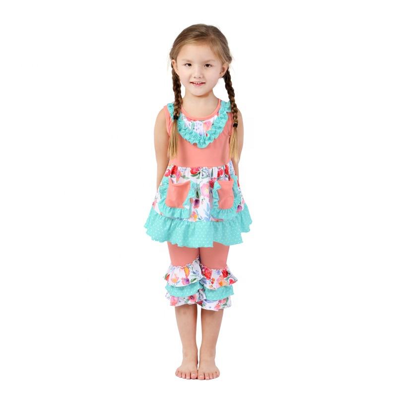 601b0472b6a9c Toptan bebek giysileri kız kıyafet üst legging ile set olarak moda çocuk  giyim