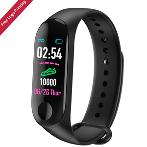 Ready to ship hot selling free logo printing promotion cheap m3 smart watch