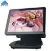 Low Cost Dual Monitor POS Terminal 15 Inch All In One Windows 10 Cash Register POS Machine with Touch Panel