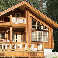 small log cabins, wooden house made in China