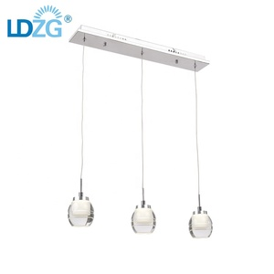 15w multi heads clear glass lampshade simplicity wholesale metal pendant light lamp cord for dinner