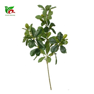 plant stand ornamental leaves branches tree artificial decoration 3 head beam plastic real touch artificial faux plant leaf