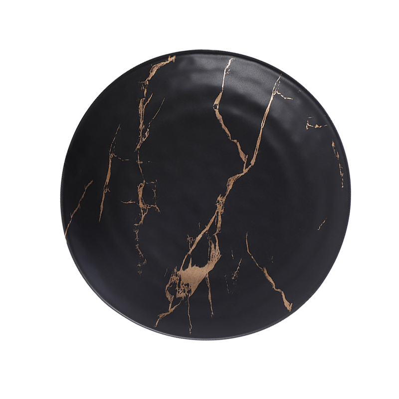 Cheap Gold Black Marble 6.5 Inch dishes Japanese Restaurant Tableware, Chinese Porcelain Ceramic Tableware, Dishes Restaurant