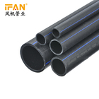Wholesale Manufacturing PE Pipe PN06 SDR26 Large Diameter Plastic Tubes Hdpe Pipe for Water Drain