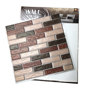 High Quality Various Colors Removable PVC Vintage Stone 3D Brick Wall Sticker