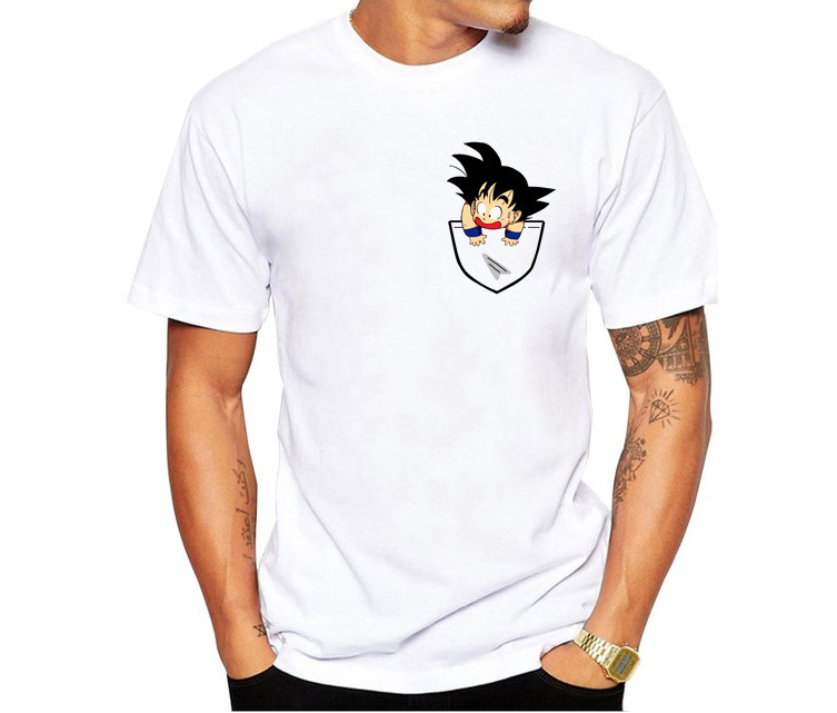 New Dragon Ball T Camicia di Estate Degli Uomini Super Son Goku Slim Fit Cosplay 3D Stampa T Shirt Vegeta Tshirt Homme camicie