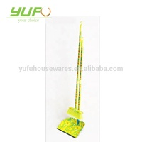 China supply plastic broom and dustpan set, household cleaning soft brooms