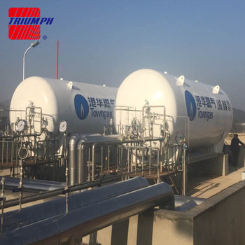 Horizontal 50m3 LNG Cryogenic Storage Tank with ASME Standard