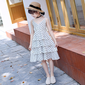 New Arrival Girls Summer Chiffon Party Sexy Princess Dress Kids Clothing Dress