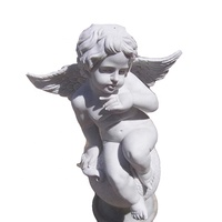 Stone carvings and sculptures beautiful white marble small angel statues wholesale