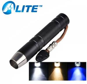 3 LED Light Source Torch Strong White UV 365nm Yellow Beam Gem Stone Jade Jewelry Flashlight