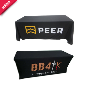 6Ft 8Ft Fitted Trade Exhibition Eco-Friendly Disposable Custom Printed Protective Table Cover