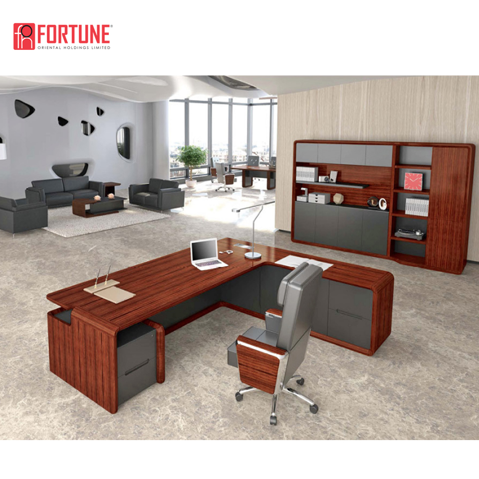 Luxury Office Desk Modern Wood Computer Tables Models Executive