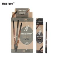 Selling well around the world M5054 of music flower waterproof Custom eyebrow pen 3 colors oem eyebrow pencil private label