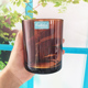 Recycled amber glass votive jar colored candle holder tumbler cups for candle